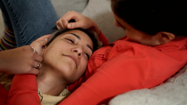 young lesbian couple falling in love - falling in love stock videos & royalty-free footage