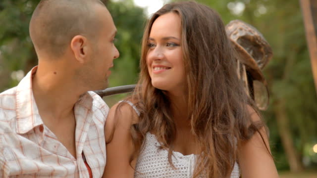 HD Young loving couple outdoors