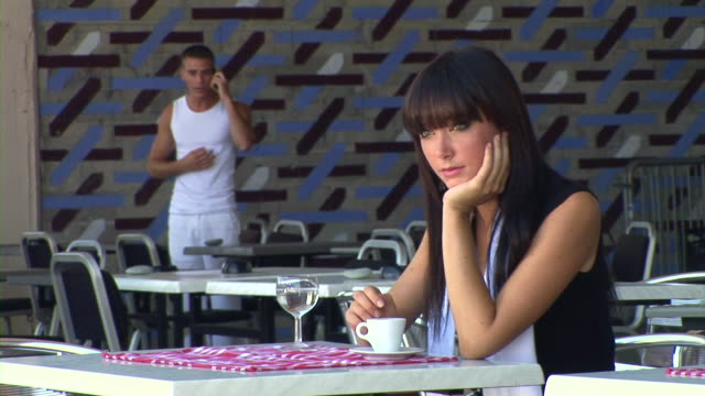 hd slow-motion: young man admiring a woman - bangs stock videos & royalty-free footage