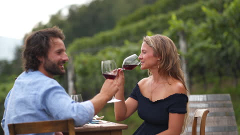 young man and woman sitting down at an outdoor lakeside dinner table - mid adult couple stock videos & royalty-free footage