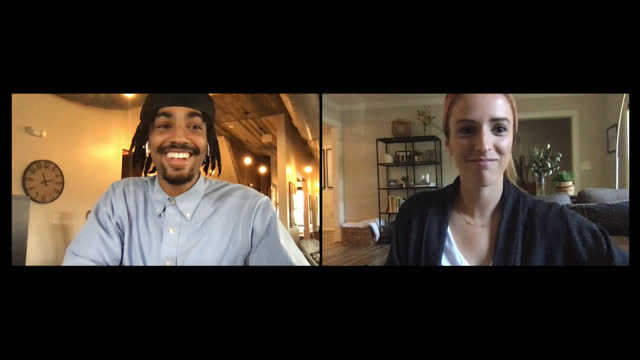 young man and young woman on an online date via video call - dating stock videos & royalty-free footage