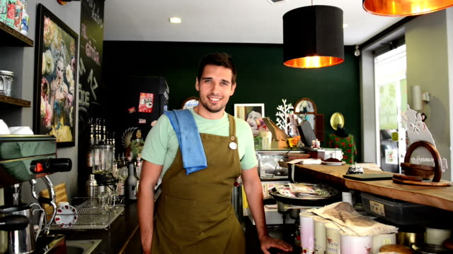 Young man barista