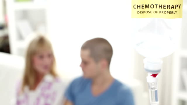 HD: Young Man Having Chemotherapy at home.