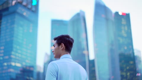 ms ts sm young man in the city - chinese ethnicity stock videos & royalty-free footage