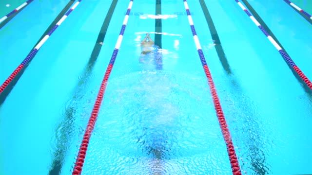 vídeos de stock e filmes b-roll de young man jumping into a swimming pool - caminho adiante