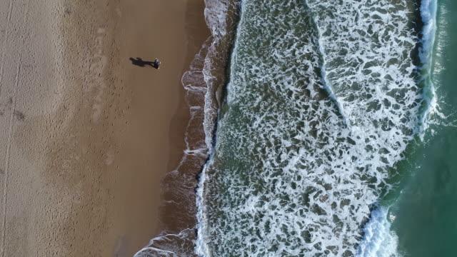 junger mann auf reisen, die natur zu erkunden, am strand - entdeckung stock-videos und b-roll-filmmaterial