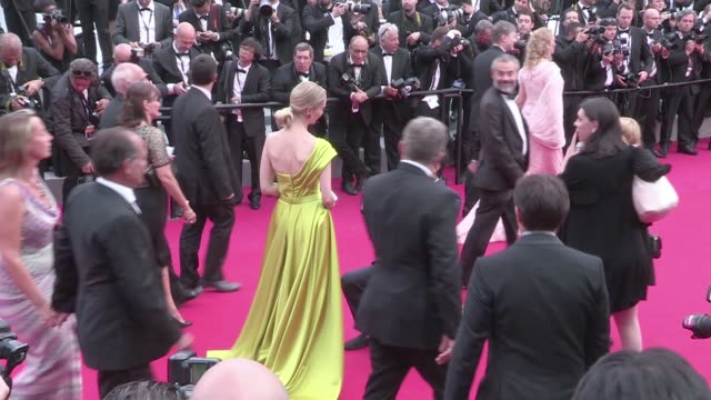 a young man took his lovely girlfriend on the red carpet during the closing ceremony of the cannes film festival and he proposed in front of the all... - cannes stock videos & royalty-free footage