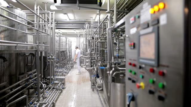 Jeune homme travaillant dans une usine de produits alimentaires