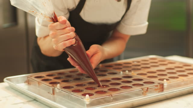young master chocolatier - food and drink stock videos & royalty-free footage