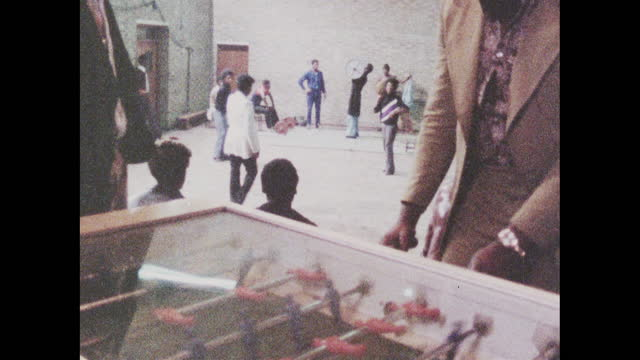young men enjoy activities at brixton youth club; 1973 - lying on back stock videos & royalty-free footage