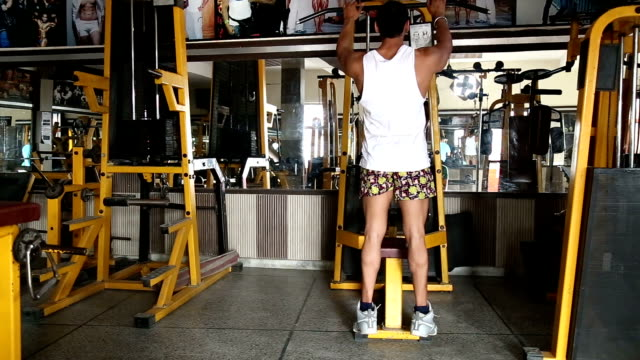 young men exercising in the gym - pectoral muscle stock videos and b-roll footage