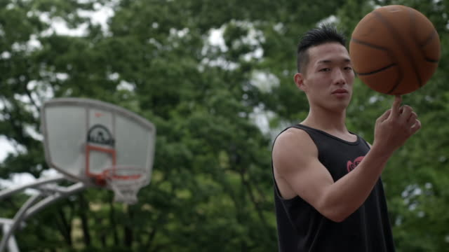 "young men on a basketball court, japan - ""bbc universal"" stock-videos und b-roll-filmmaterial"