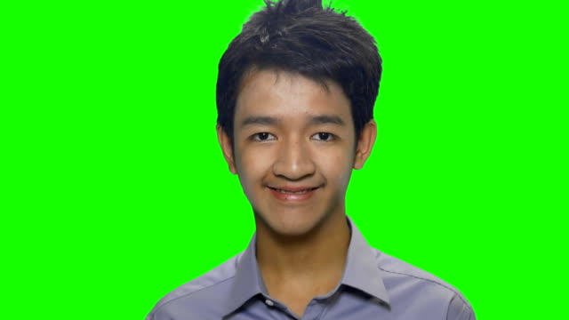 young men smiling green screen background - south east asian ethnicity stock videos & royalty-free footage