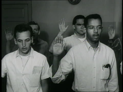 young men take the enlistment oath. - oath stock videos & royalty-free footage