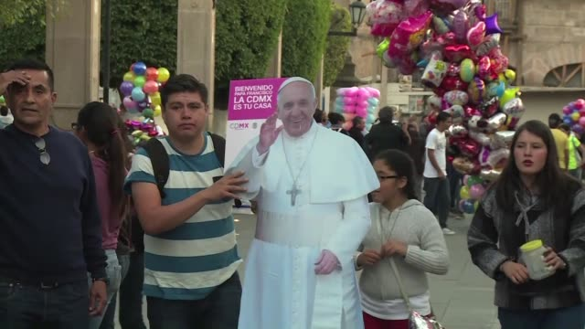 young mexicans expect a message of peace from pope francis who will meet with the youth after giving mass in morelia michoacan - morelia video stock e b–roll