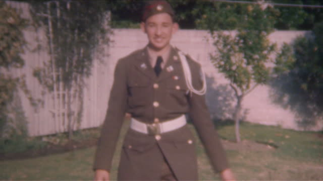 young military cadet 1940's - army stock videos & royalty-free footage