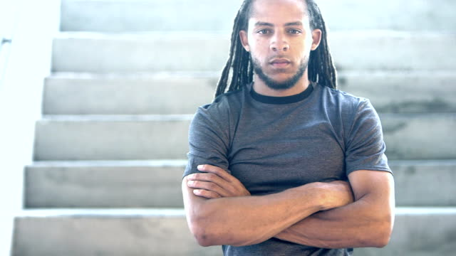 young mixed race man with dreadlocks - locs hairstyle stock videos & royalty-free footage