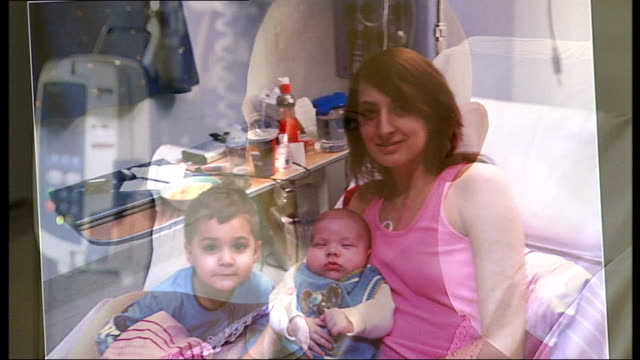 young mother discovers she has leukaemia; england: london: romford: int close shot of karla neckles in hospital bed karla and reporter looking at... - haystack stock videos & royalty-free footage