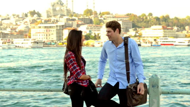 Young multinational couple in Istanbul