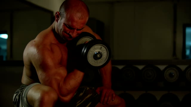 young muscle man workout - strongman stock videos & royalty-free footage