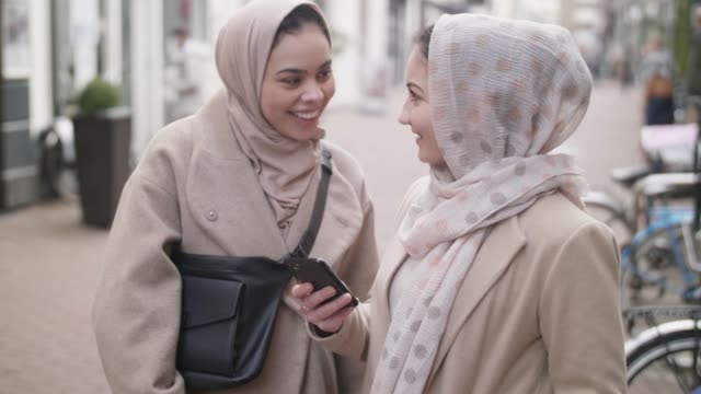 young muslim girls in holland - hijab stock videos & royalty-free footage