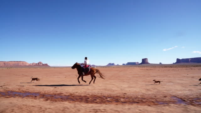 a young navajo riding her horse - navajo culture stock videos & royalty-free footage