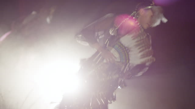a young navajo woman dances in traditional clothing - navajo culture stock videos & royalty-free footage
