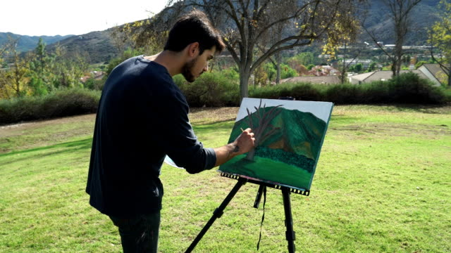 Young Painter in Action