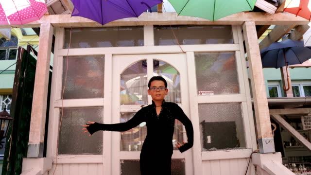 vídeos de stock e filmes b-roll de young passionate boy dancing latino dance - arte, cultura e espetáculo
