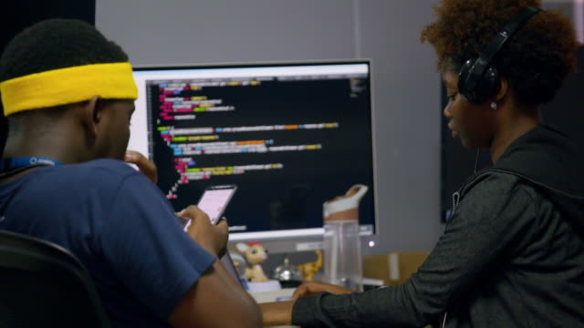young people at work at a tech company, lagos - programmer stock videos & royalty-free footage