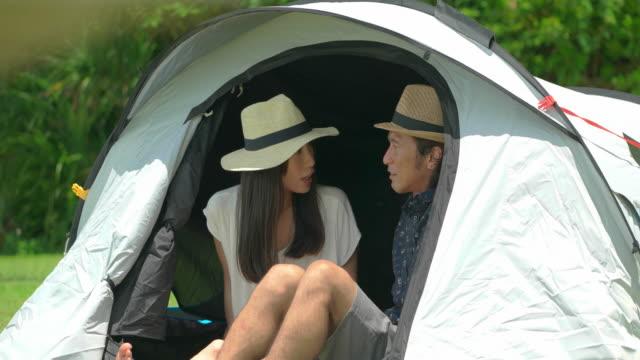 若い人のキャンプします。 - camping点の映像素材/bロール