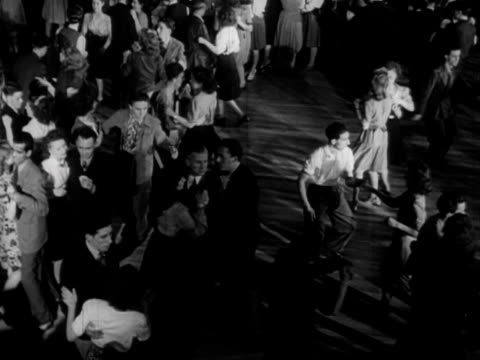 young people dance in a dance hall 1957 - couple relationship stock videos & royalty-free footage