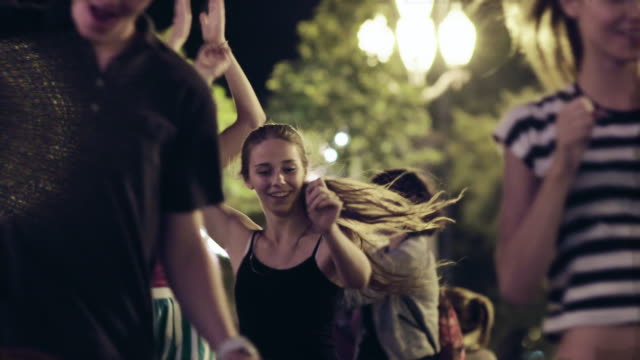 young people dancing on the streets - courtyard stock videos & royalty-free footage