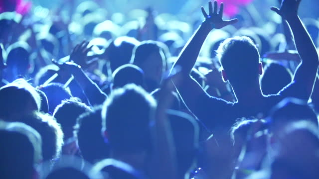 young people having fun at music concert - entertainment event stock videos & royalty-free footage