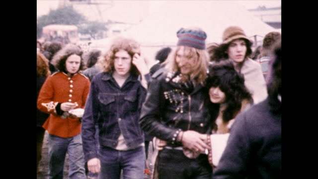 young people in 1970s fashion at festival; 1972 - 1972 stock videos & royalty-free footage