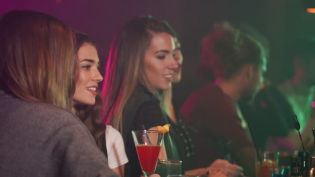 young people in the night club 4k - lipstick kiss stock videos and b-roll footage