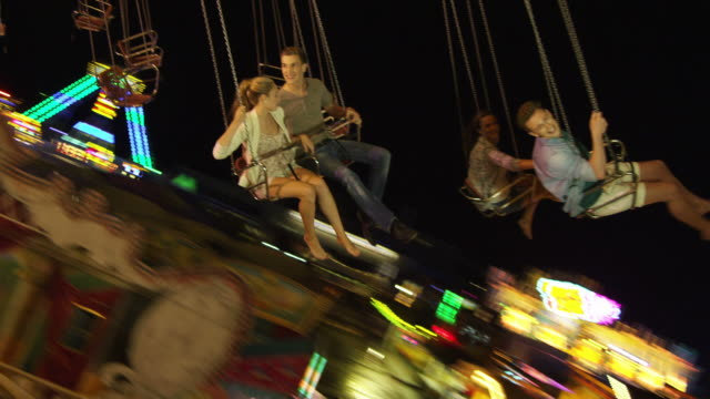 Young people on Chairoplane Collection