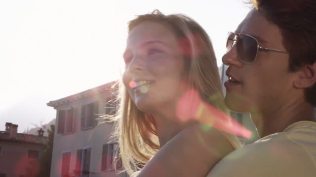 stockvideo's en b-roll-footage met young people on landing stage - minder dan 10 seconden