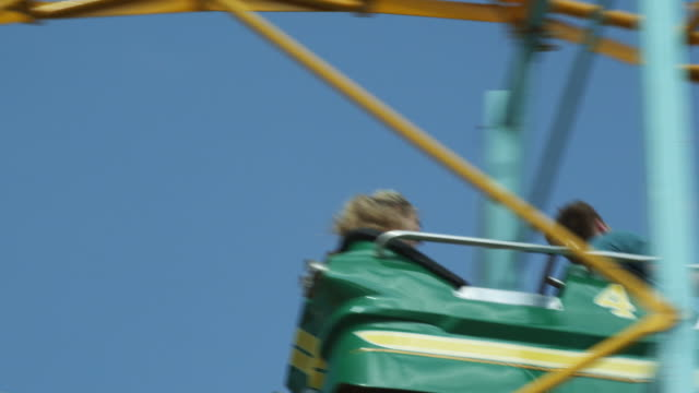 young people on rollercoaster - rollercoaster stock videos & royalty-free footage