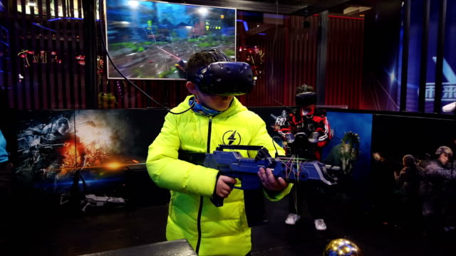 young people watching vr video and playing,xi'an,china. - leisure games stock videos & royalty-free footage