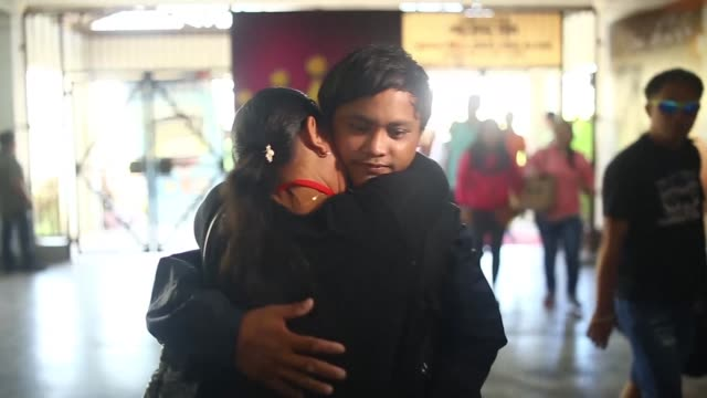 a young philippine fisherman reunites with his family in his hometown after having been given up for dead at sea battling hunger thirst and despair... - hometown stock videos and b-roll footage