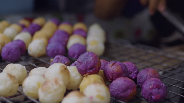 young potatoes prepare on a grill - mashed potatoes stock videos & royalty-free footage