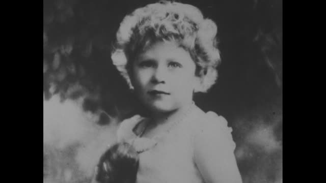 young princess elizabeth with flowers in her hair / she sits with head in hands / filtered portrait / young teenager / note exact year not known /... - princess elizabeth stock videos and b-roll footage