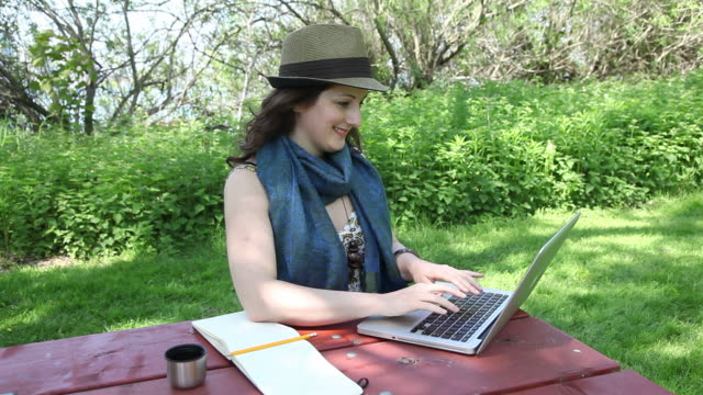 young professional - picnic table stock videos & royalty-free footage