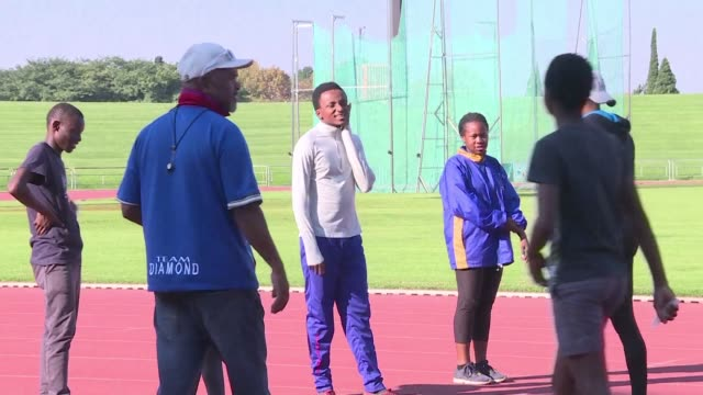 young south african athletes from the diamond athletic club express their support towards caster semenya ahead of the ruling on her case vs iaaf - caster semenya stock videos & royalty-free footage
