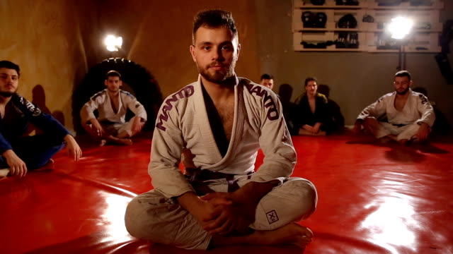 young sporty man - karate stock videos and b-roll footage