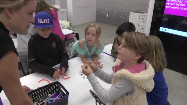 young students in los angeles take part in steam learning science technology engineering art and math an innovative artistic twist on the more... - science and technology stock videos & royalty-free footage