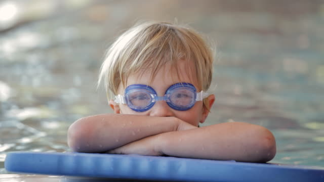 CU Young swimmer in a pool / Vancouver, British Columbia, Canada