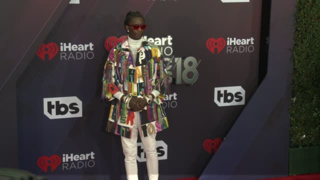 Young Thug at the 2018 iHeartRadio Music Awards at The Forum on March 11 2018 in Inglewood California