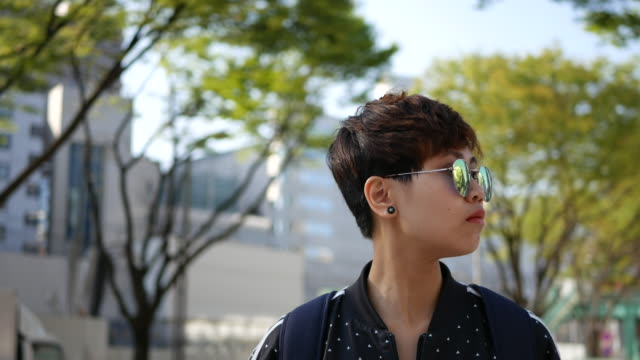 Young traveler looking around